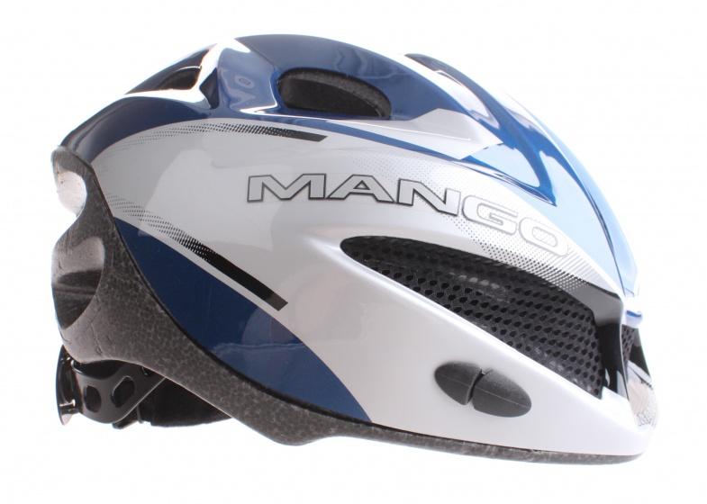 Mango fietshelm Furia grijs/blauw maat 48/54