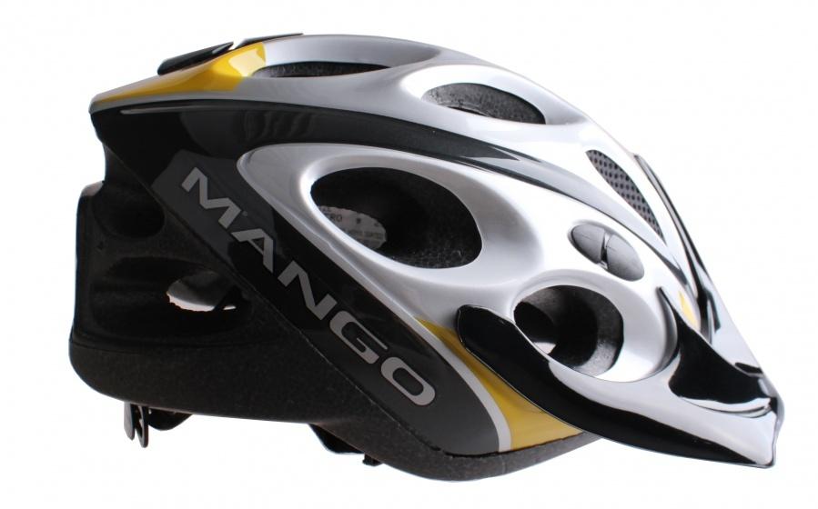 Mango fietshelm Hero grijs/zwart/geel maat S/M