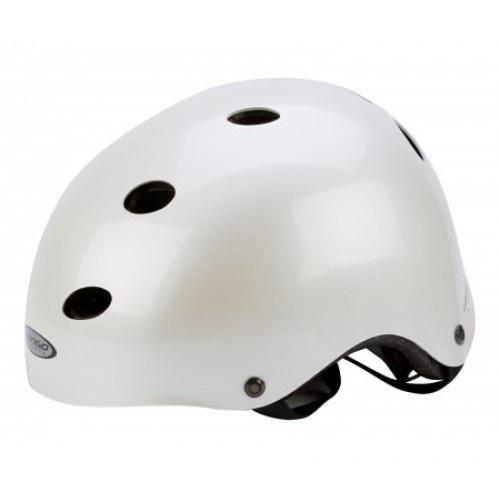 Mango X ride BMX helm wit met roze bloem maat L/XL