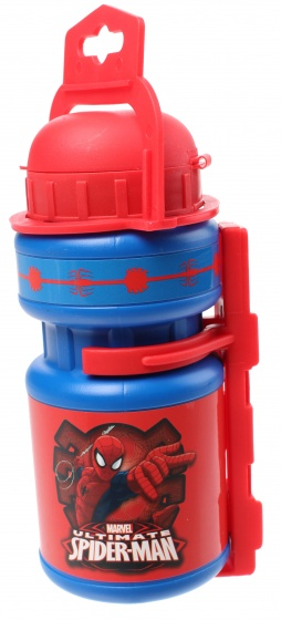 Marvel bidon met bidonhouder Spider Man blauw/rood 330 ml