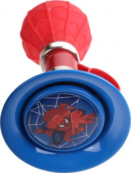 Marvel fietstoeter Spider Man 13 cm rood/blauw