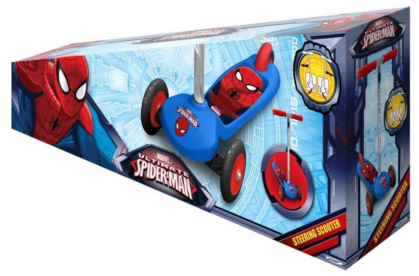 Marvel Spider Man 3 wiel kinderstep Jongens Voetrem Blauw/Rood
