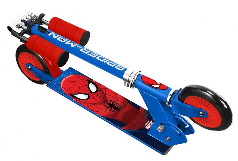 Marvel Spider Man kinderstep Jongens Voetrem Blauw/Rood