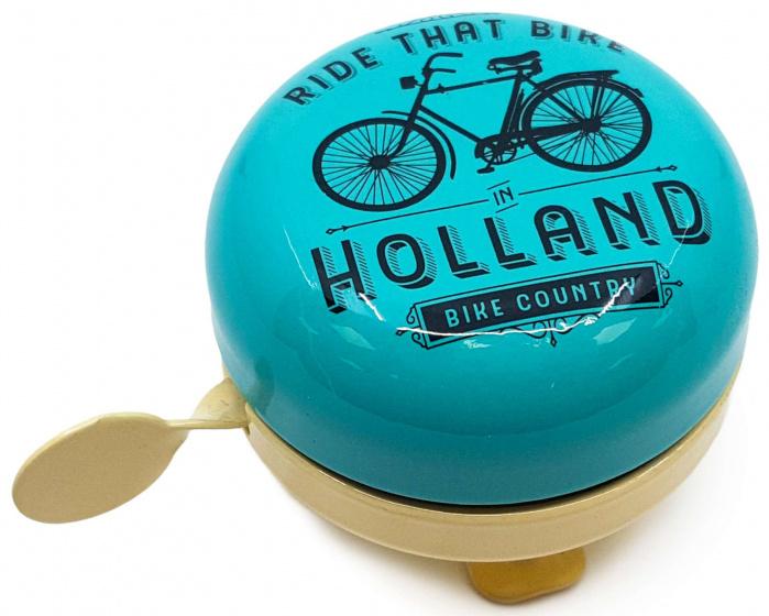 Matix fietsbel Holland Ride That Bike 58 mm staal cr�me/blauw