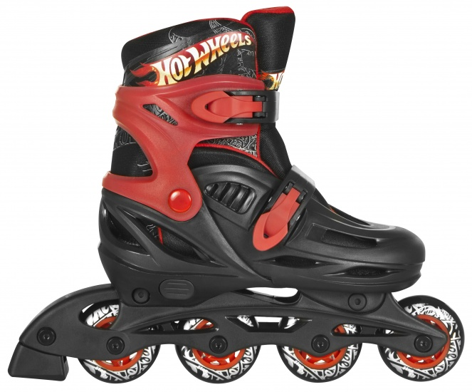 Einstellbare Skates Schwarz Inline Wheels Hot Rot tCrdBsxohQ