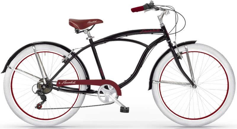 MBM Honolulu 26 Inch 47 cm Heren 6V V Brake Zwart