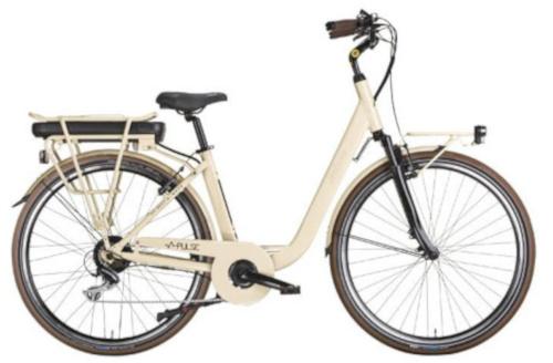 MBM Pulse 28 Inch 46 cm Dames 7V V Brakes Crème - Elektrische fiets