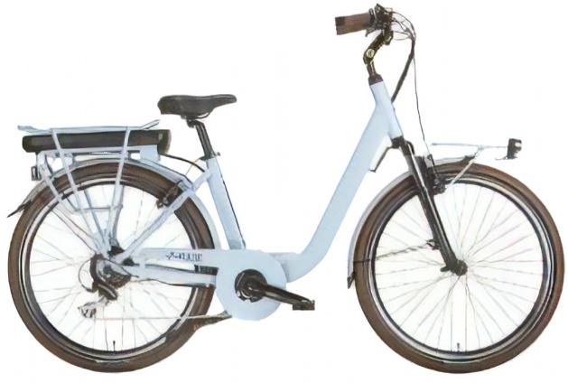 MBM Pulse 28 Inch 46 cm Dames 7V V Brakes Lichtblauw - Elektrische fiets