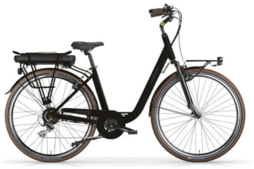 MBM Pulse 28 Inch 46 cm Dames 7V V Brakes Zwart - Elektrische fiets