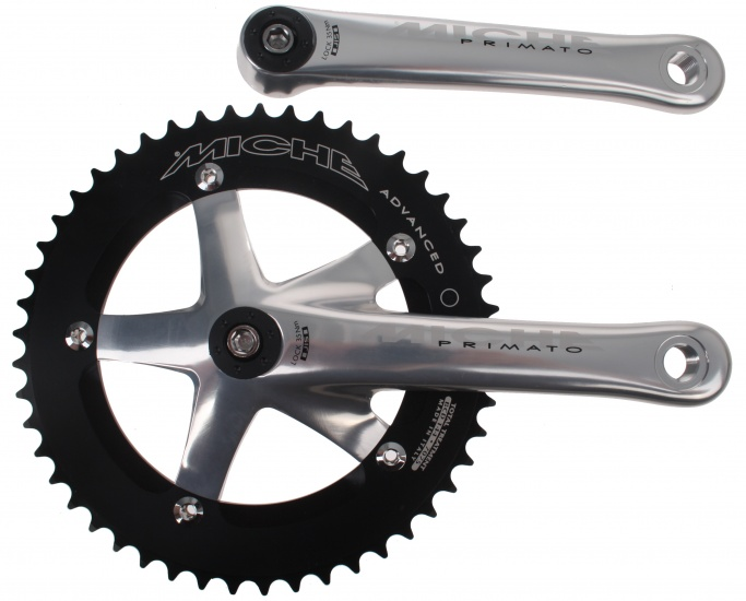Miche Crankset Pista Advanced 170 mm 50T zilver