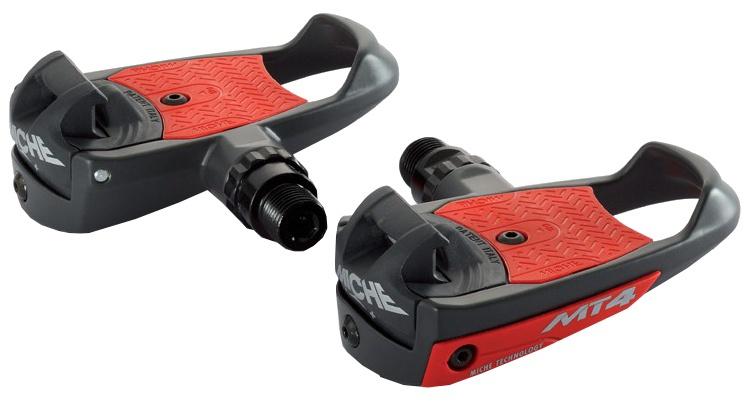 Miche Klikpedaal MT4 Look/SPD/SPD SL 9/16 Inch set rood/grijs