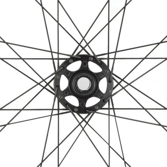 Miche Wielset 977 Shimano Tubeless Schijfrem 27 Inch 32S zwart/geel
