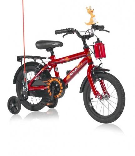 Mickeybike - Kinderfiets 14 Inch Jongens V-brake Rood