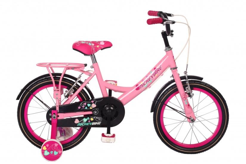 Mickeybike Kinderfiets 14 Inch Meisjes Terugtraprem Roze