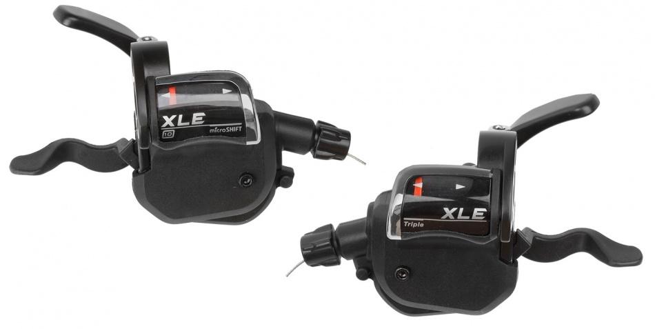 Microshift Duimverstellers XLE Rechts en Links Zwart