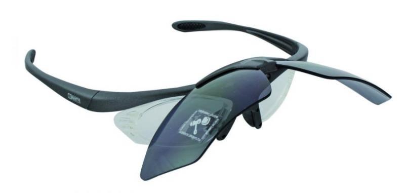 Mighty sport en fietsbril met verwisselbare glazen antraciet