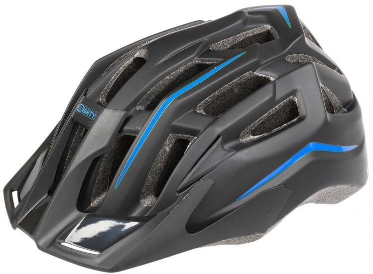 Mighty Fietshelm Hawk junior zwart/blauw maat M (52 58 cm)
