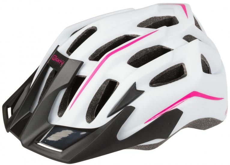 Mighty Fietshelm Hawk meisjes wit/roze maat M (52 58 cm)