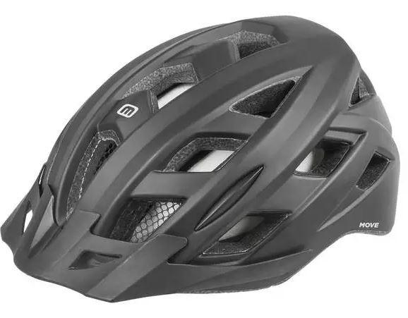 Mighty helm unisex zwart maat 52 58 cm