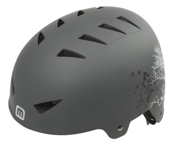 Mighty Helm X Style Raven Antraciet Maat 58/63 cm