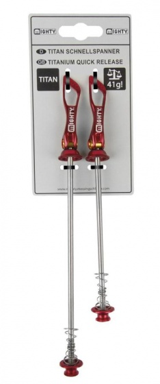 Mighty Quick Release Set Titanium 135 / 100 mm Rood
