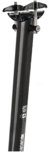 Mighty Zadelpen vast 27,2 x 350 mm carbon zwart