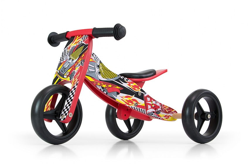 Milly Mally 2 in 1 loopfiets Jake Cars Junior Rood