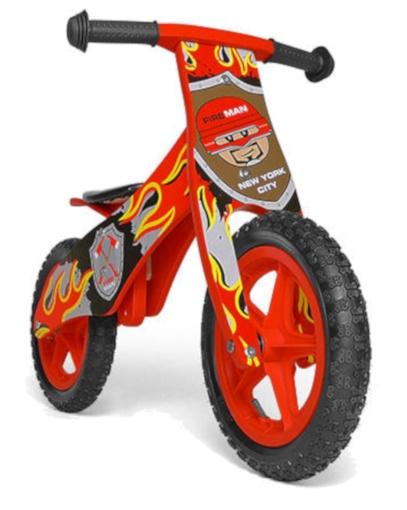 Milly Mally loopfiets Duplo Brandweer 12 Inch Junior Rood
