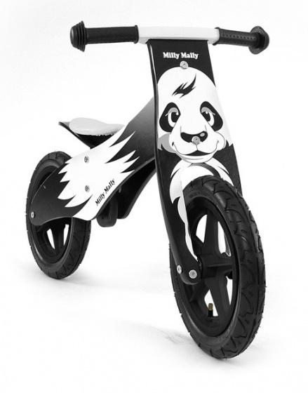 Milly Mally loopfiets Duplo Panda 12 Inch Junior Zwart/Wit