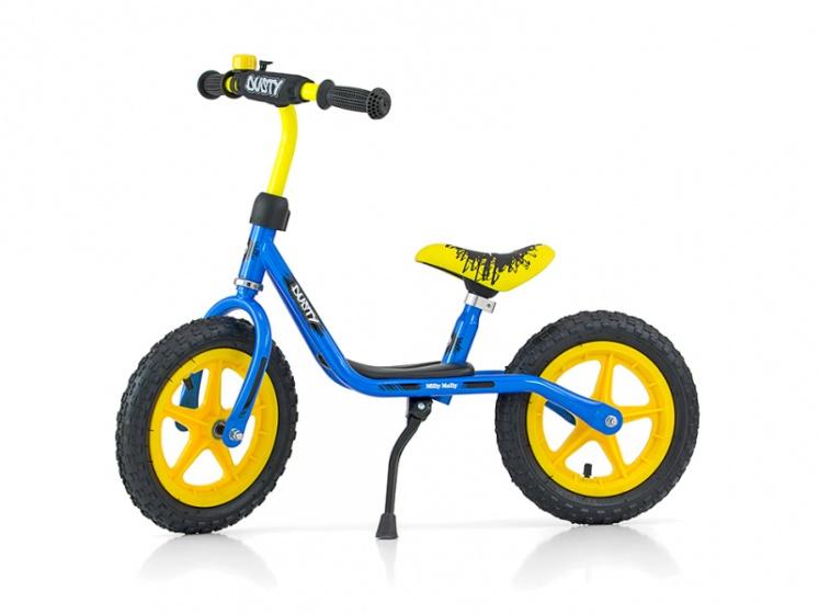 Milly Mally - Loopfiets Dusty 10 Inch Junior Blauw/geel