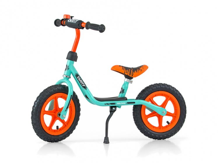 Milly Mally loopfiets Dusty 10 Inch Junior Mintgroen
