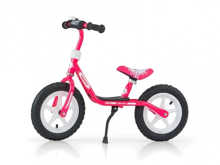 Milly Mally loopfiets Dusty 10 Inch Junior Roze/Wit