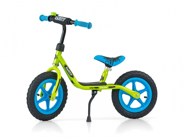Milly Mally loopfiets Dusty 12 Inch Junior Groen/Blauw
