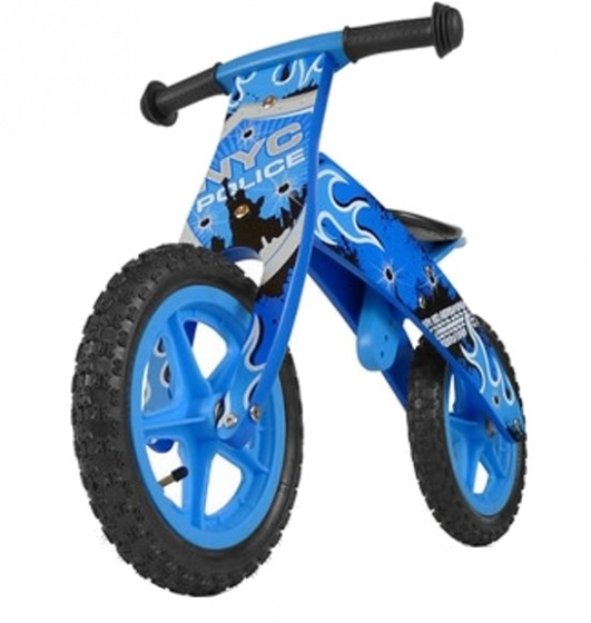 Milly Mally loopfiets Flip Blue 12 Inch Junior Blauw