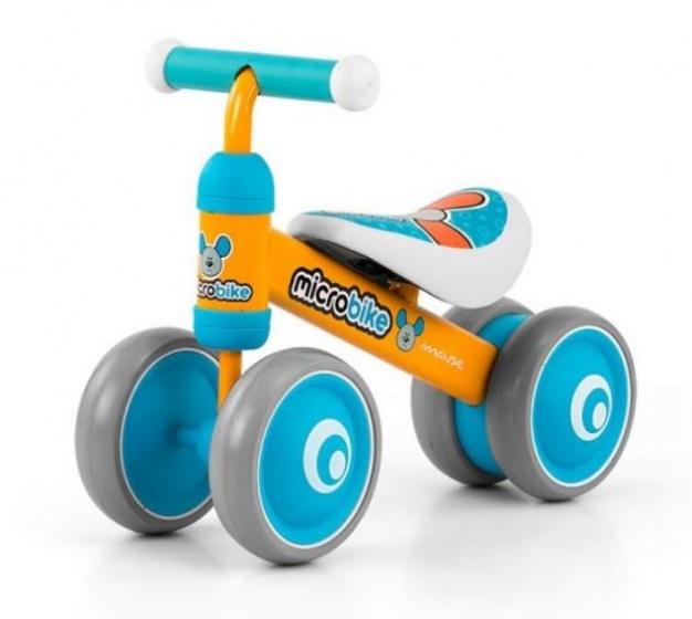 Milly Mally Loopfiets Micro muis Junior Oranje/Lichtblauw