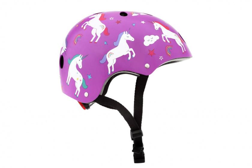 Mini Hornit Lids Fietshelm voor Kinderen Unicorn M