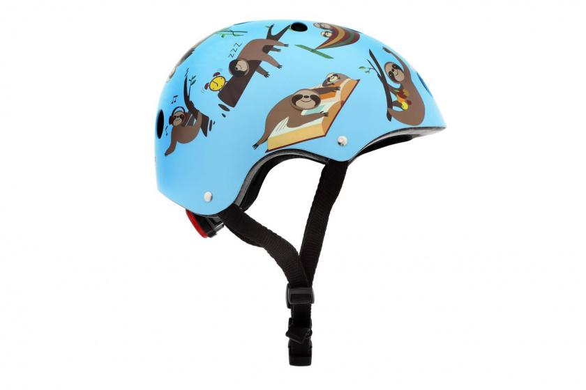 Mini Hornit Lids kinderhelm Super Sloth blauw/bruin mt 53 58 cm