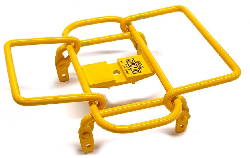Minoura bagagerek Mini Grid stuur 14 x 14 cm staal geel