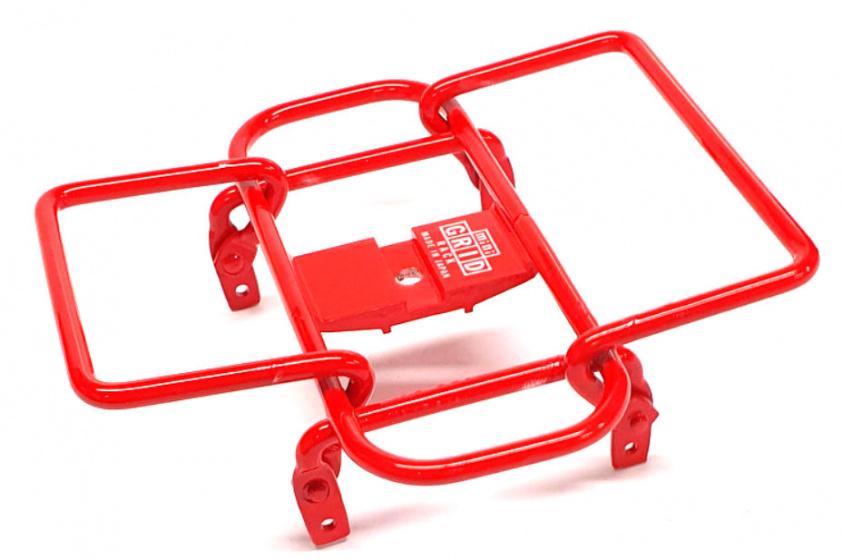 Minoura bagagerek Mini Grid stuur 14 x 14 cm staal rood