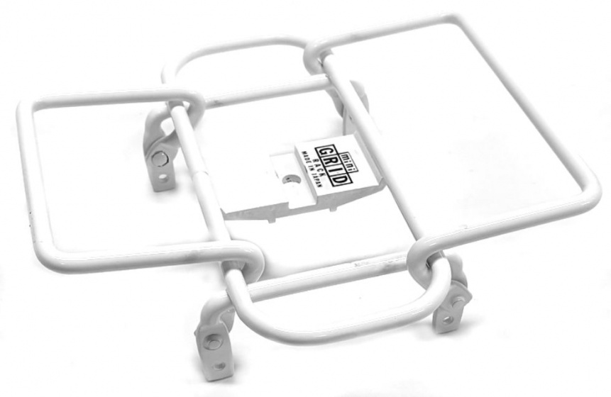 Minoura bagagerek Mini Grid stuur 14 x 14 cm staal wit