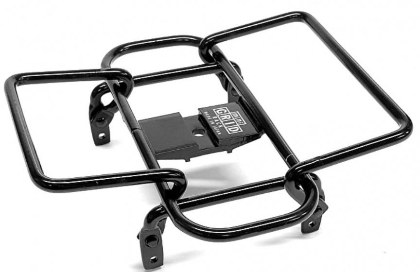 Minoura bagagerek Mini Grid stuur 14 x 14 cm staal zwart