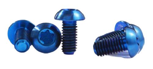 Minoura inbusbouten Alloy M5 x 12 mm aluminium blauw 8 stuks