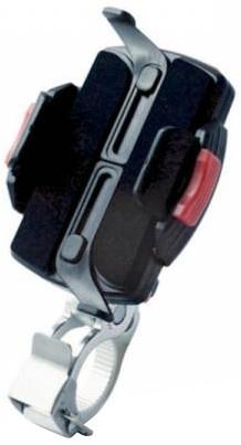 Minoura smartphonehouder universeel zwart/zilver