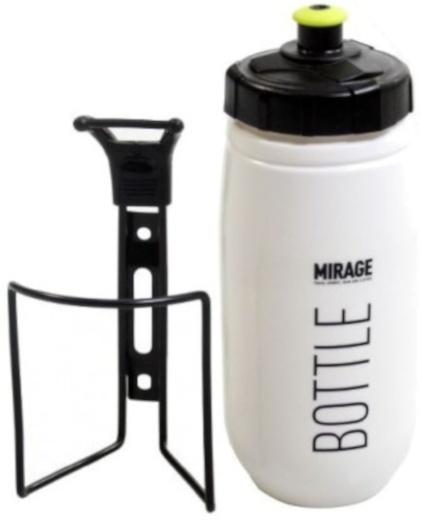Korting Mirage Bidon Met Bidonhouder Wit zwart 600 Ml