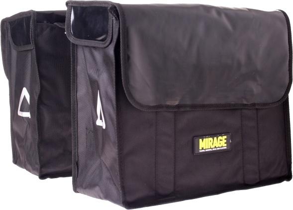 Mirage dubbele fietstas bisonyl 36L zwart