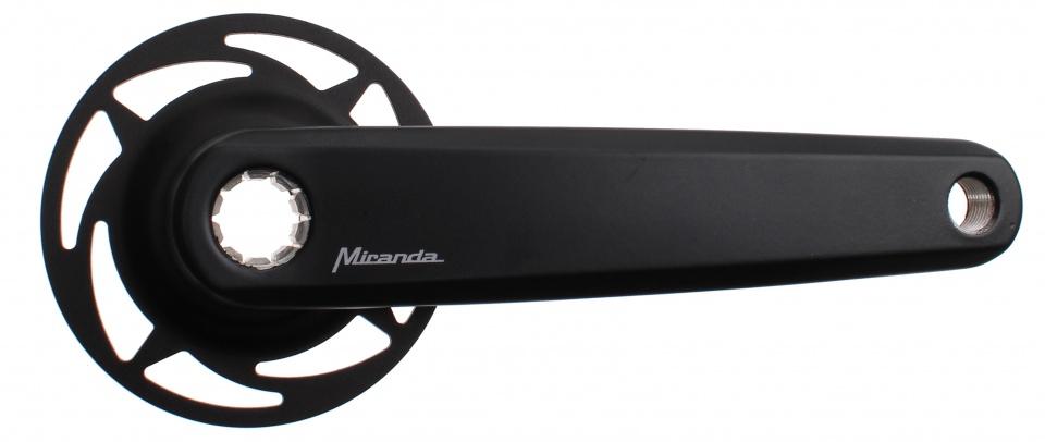 Miranda crankstel Bosch 2 aluminium 170 mm zwart
