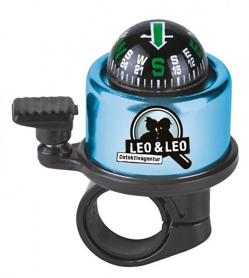 Moses fietsbel Leo en Leo Detective met kompas blauw