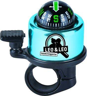 Moses fietsbel met kompas Leo en Leo