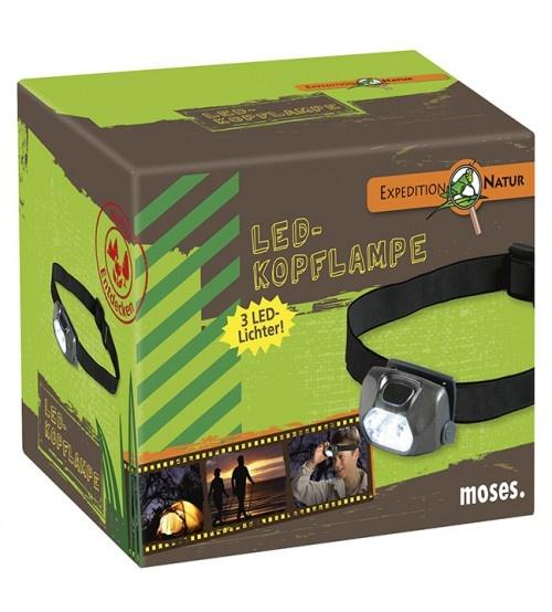 Moses hoofdlamp led verlichting Expeditie zwart 5,5 x 3 cm