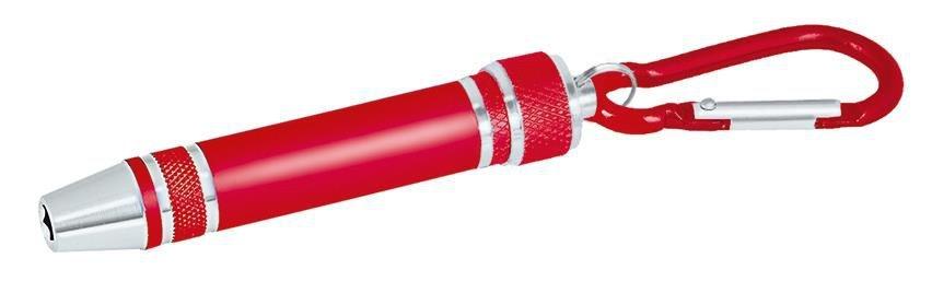 Moses schroevendraaier met karabijnhaak 8 cm rood
